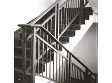 锌钢灰砂纹楼梯扶手7